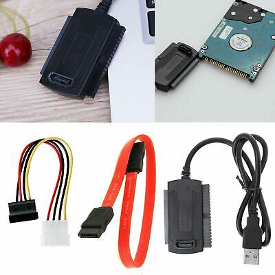 SATA/PATA/IDE USB Cable Alimentación Adaptador Convertidor Para Disco Duro Dvd