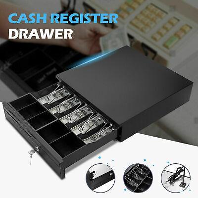 Heavy Duty Electronic Cash Drawer Box Case Storage 5 Bill 5Coin Trays Check Z0M1
