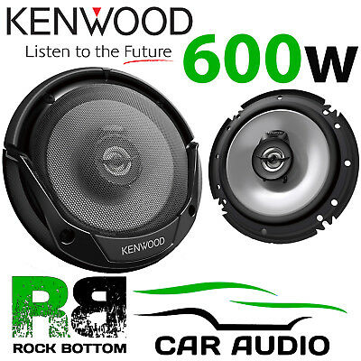 "Kenwood KFC-E1665 17cm 6.5"" inch 600 Watts 2 Way Car Van Door Speakers & Grilles"