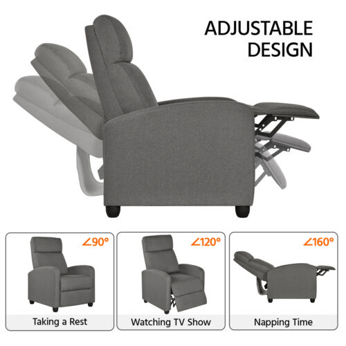 Fabric Recliner Chair Modern Sofa Theater Seating for Living