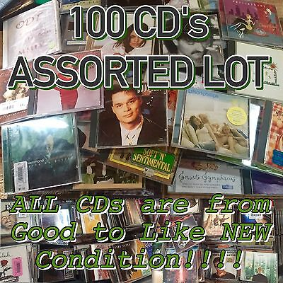 Lot of 100 Assorted CD's ALL GOOD-MINT CONDITION VARIETY BUY! Huge Mix!