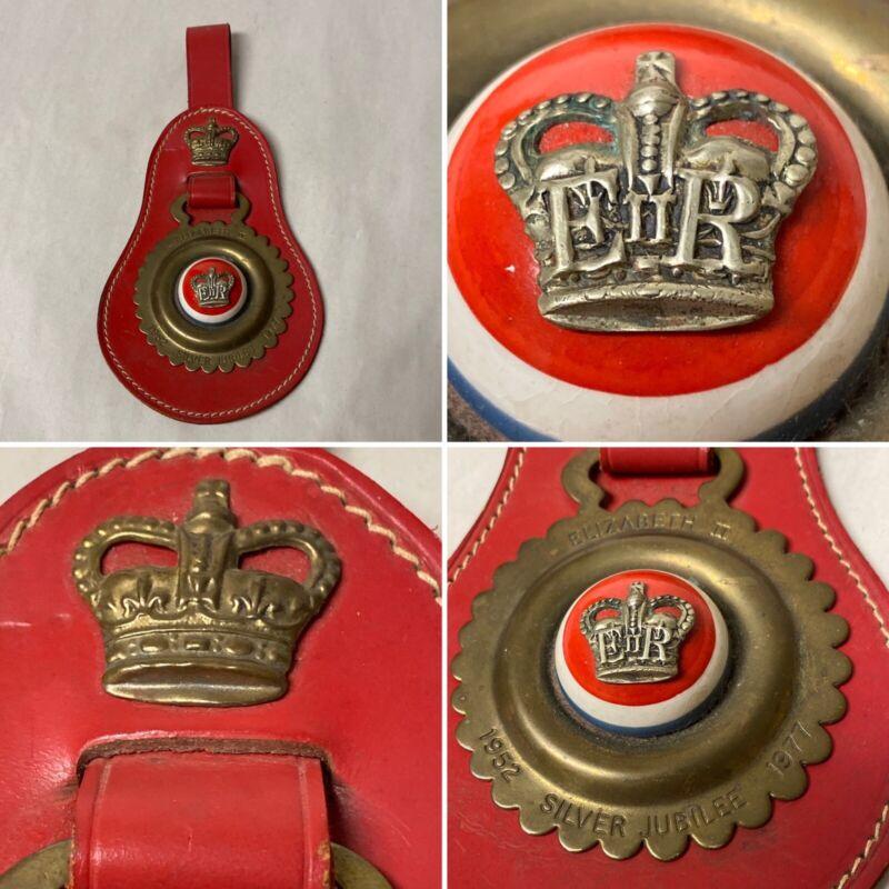 Vtg Brass Horse Medallion 925 Equestrian Blinder Queen Elizabeth IIJubilee 1952