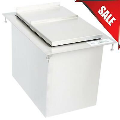 Multiple Sizes Stainless Steel Drop-in Ice Bin Foam Insulated Restaurant Bar Nsf