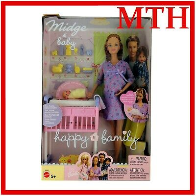 Midge And Baby Barbie Happy Family Mom and Baby New Boxed - MINT