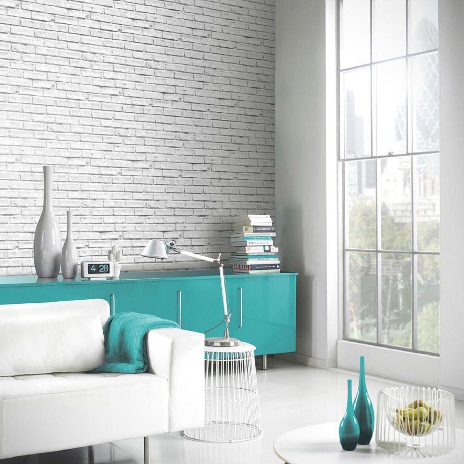 Nuovo arthouse bianco muro di mattoni trama motivo lusso for Carta da parati muro mattoni