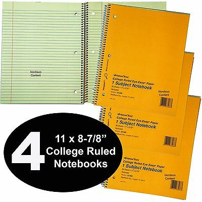 National Brand 33-068 College Ruled Notebooks 80 Sheet 11x8-78 4 Each
