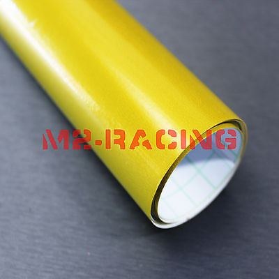 "60""x600"" High Gloss Candy Yellow Premium Sticker Decal Car Vinyl Wrap Film DIY"