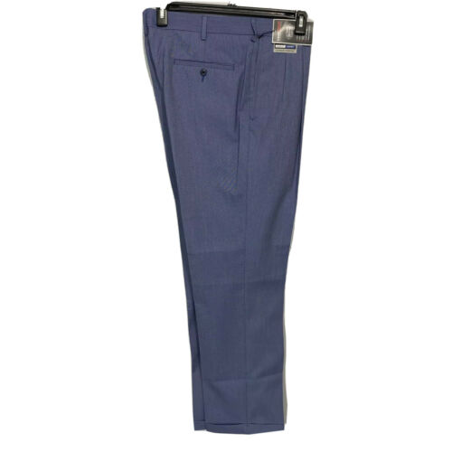 Roundtree & Yorke Travel Smart Ultimate Comfort Classic Fit Pants 34×32 Blue Clothing, Shoes & Accessories