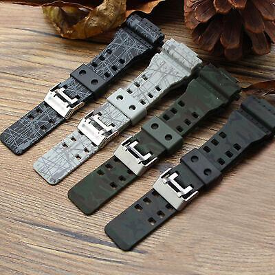 For G-shock GA-100/GA-110 GD-120 5146 5081 Silicone Watch Strap&Case Army Band