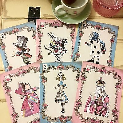 Alice In Wonderland Giant Playing Card Party Props - Set Of 6 - Giant Playing Card Decorations