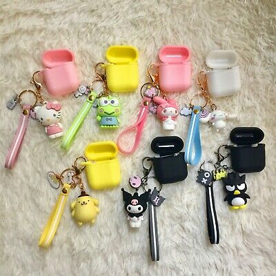 Cute Hello Kitty Melody Keychain Strap Shockproof Case for Airpods Charging Case
