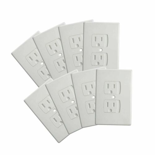 8-Pack Upgraded Self Closing Electrical Baby Proof Outlet Covers | Child Proof