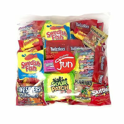 Trick Or Treat Halloween Candy Party Mix Bulk Bag of Skittles Swedish Fish Ne... (Halloween Party Bags Bulk)