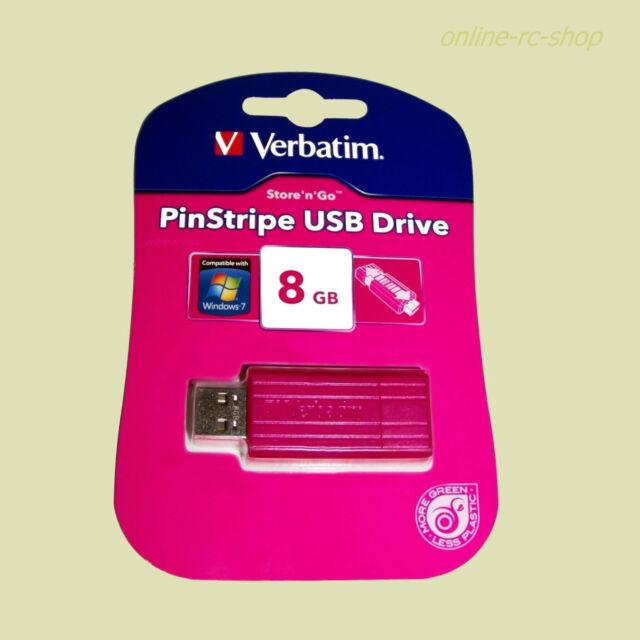 Verbatim®  USB Stick 8 GB PinStripe pink 47397 USB-Flash-Laufwerk Speicherstick