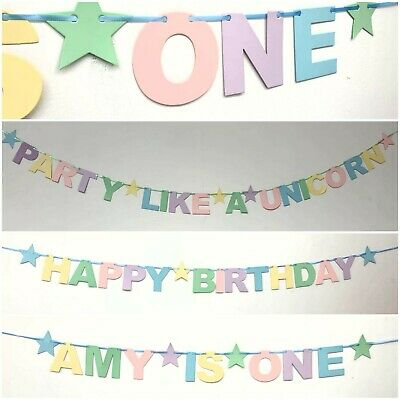 PERSONALISED First 13th 16th 18th 21st 2nd 1st Birthday Party Banner bunting