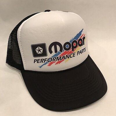 Vintage Mopar Performance Parts Trucker Hat Dodge Mesh Style Snapback Splash Cap