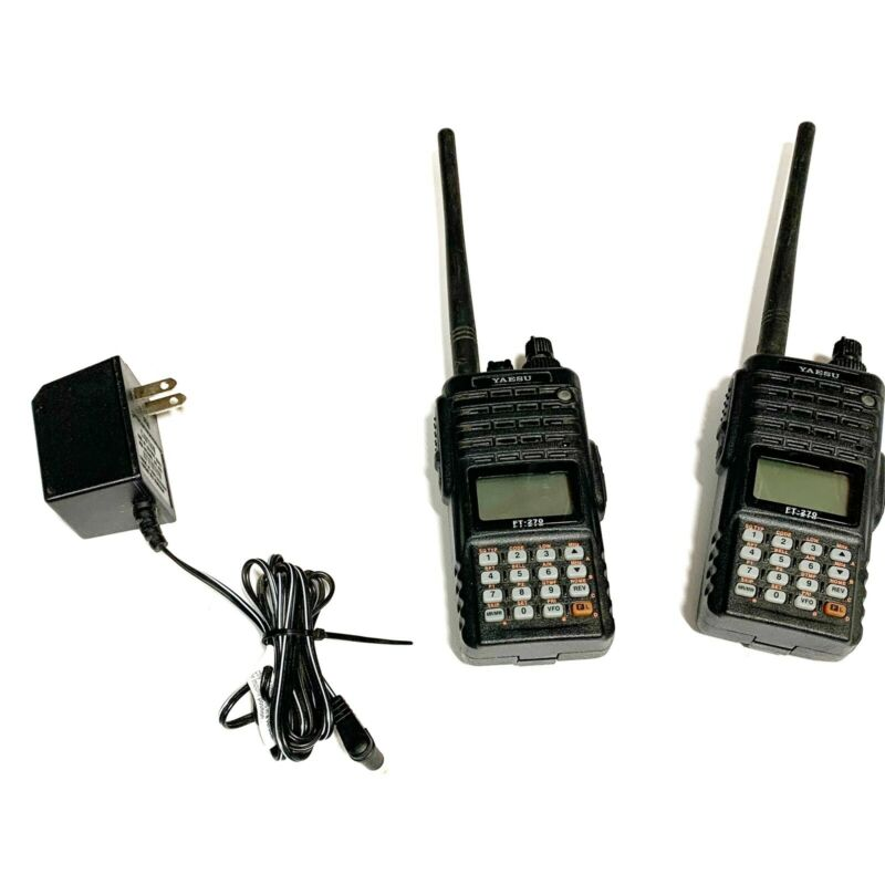 YAESU FT-270R VHF FM HANDHELD TRANSCIEVER WITH OPERATING MANUAL AND CHARGER SET