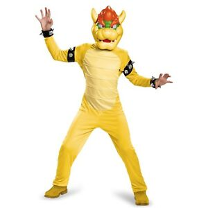 Kids super mario deluxe bowser costume size 7/8