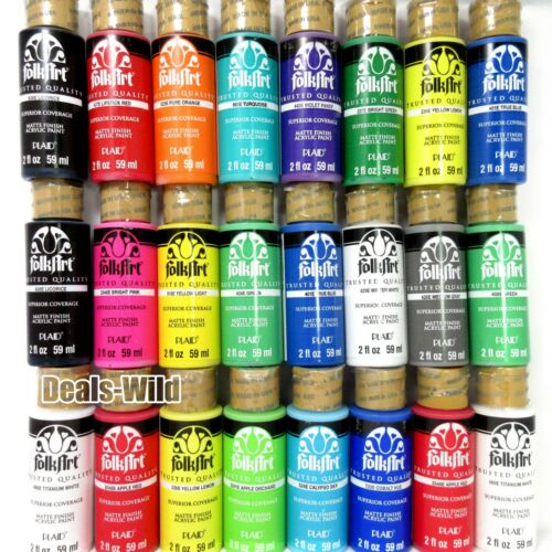 Acrylic Paint Matte FolkArt Crafts Folk Art Plaid Many Colors - Pick Set (1) 2oz