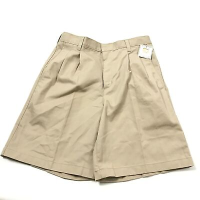 Simply The Best A+ G6 Mens Shorts Cotton Blend Pleated High Rise Beige Sz 30