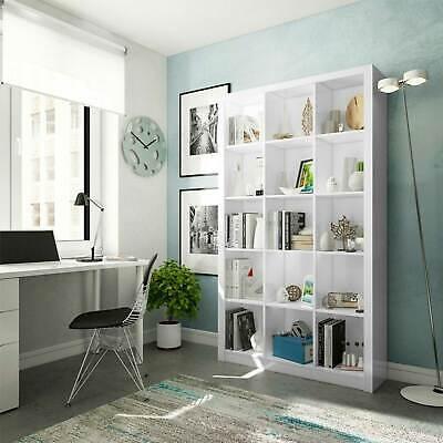 Libreria moderna bianca ABACO scaffale design soggiorno ufficio h 195 x 114 cm