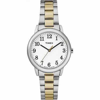 Timex TW2R23900, Women's 2-Tone Bracelet Watch, Easy Reader, Indiglo