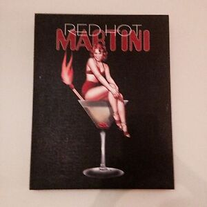 Red Hot Martini Girl Art on Canvas