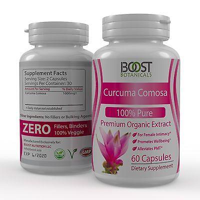 Curcuma Comosa Intimate Tightening Female Health Super Supplement 60 Veggie Caps