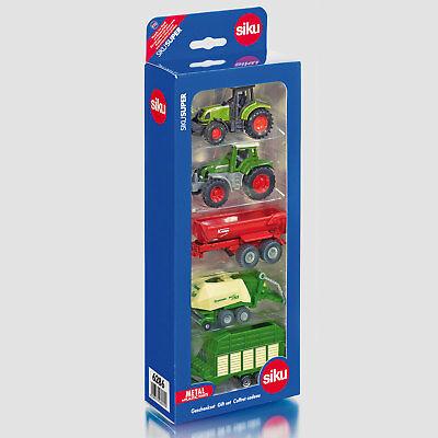 SIKU Spielzeug Geschenkset Set Landwirtschaft Traktor Schlepper Anhänger / 6286