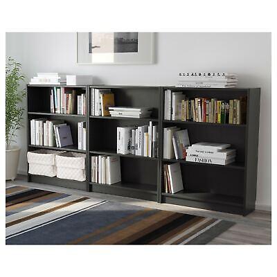 Adjustable 3 Shelf Bookcase Storage Book Bookshelf Shelving, Black, Set of 3 Black 3 Shelf Bookcase