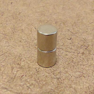 2 N52 Neodymium Cylindrical 14 X 14 Inch Cylinderdisc Magnets.