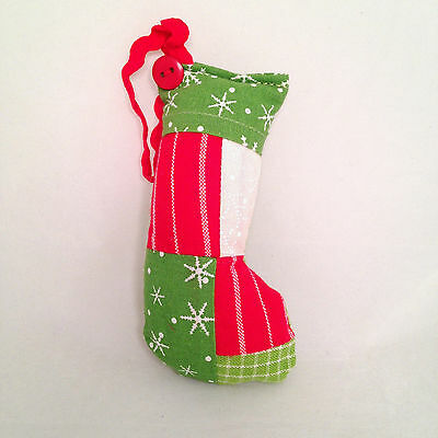 """Park Designs Ornament """"Stocking"""" Red Green Holiday Christmas"""