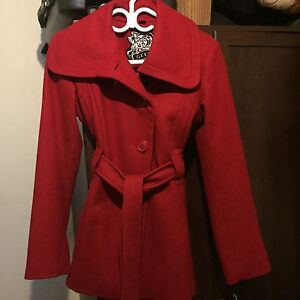 Guess red wool coat