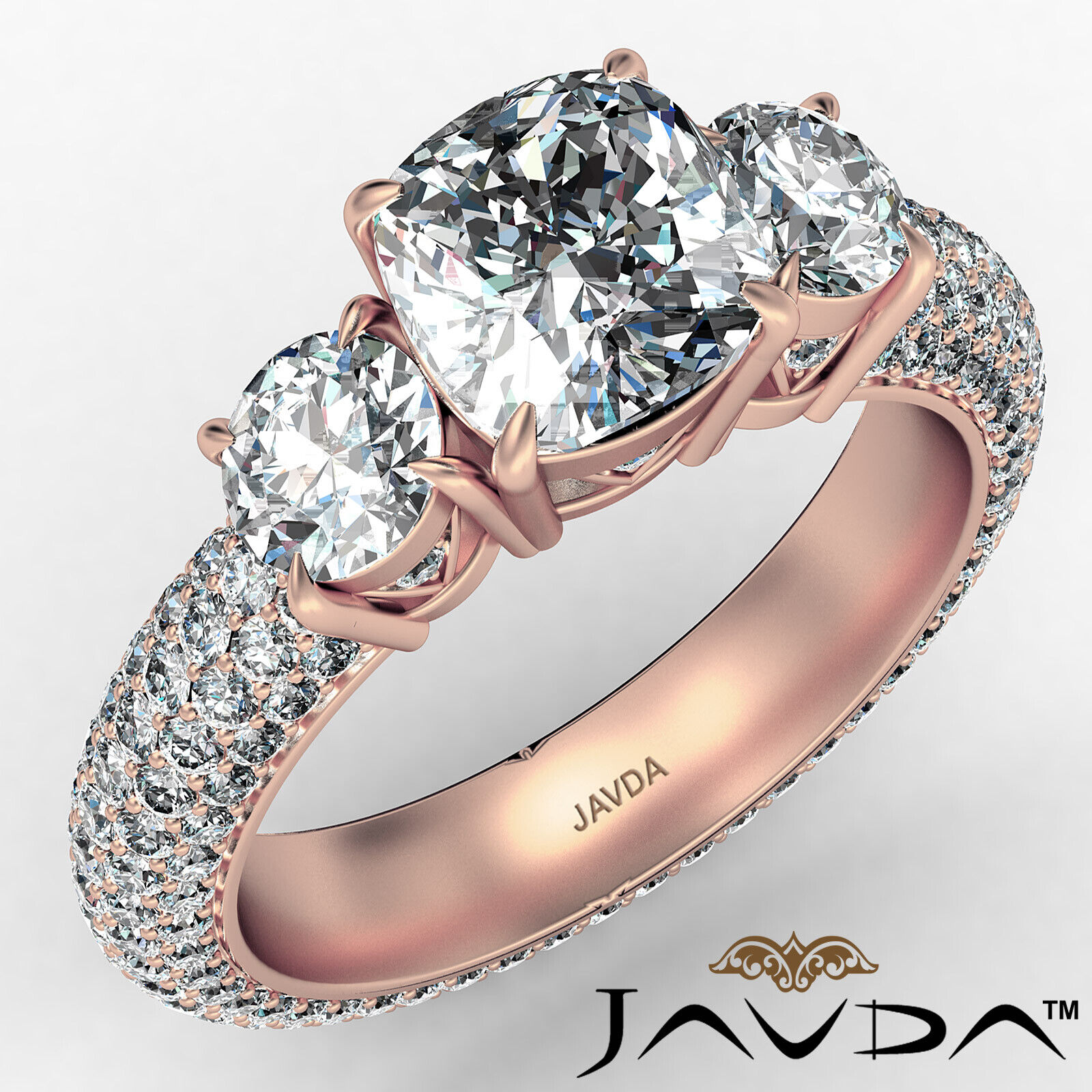 Cushion Diamond Engagement Ring Certified by GIA, G Color & SI1 clarity 3.44 ctw 2
