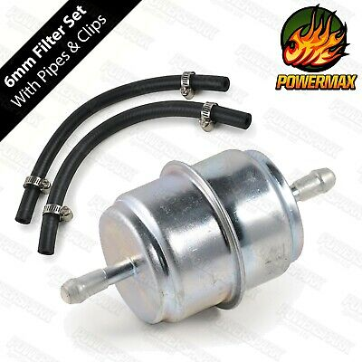 Low pressure in line fuel filter kit for post & pre filtering fuel pump & carbs