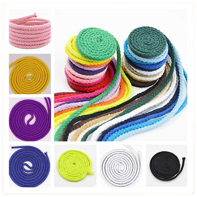 5mm Rope 8 Cotton Strand Braided Twine Sash Craft Making Twisted Cord String ()
