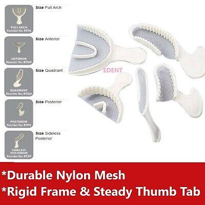Dental Impression Bite Registration Triple Tray Mold Anterior Quadrant Posterior