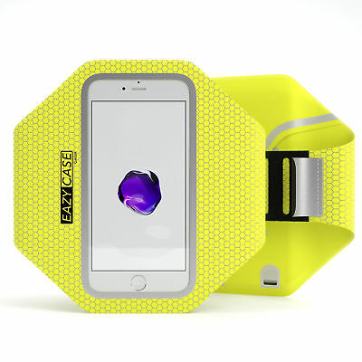 Universal Sport Handy Armtasche Jogging Smartphone Fitness Arm Band Gelb