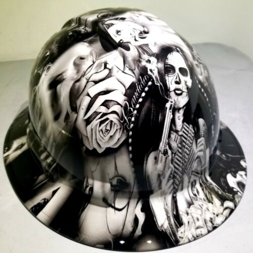 Hard Hat FULL BRIM custom hydro dipped , OSHA approved TEQUILA SHOOTER NEW 1