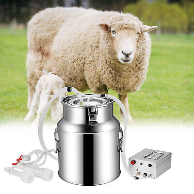 14l Electric Milking Machine Vacuum Impulse Pump Stainless Steel Cowgoat Milker