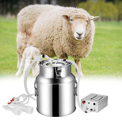 14l Electric Milking Machine Vacuum Impulse Pump Stainless Steel Cowgoat Milker