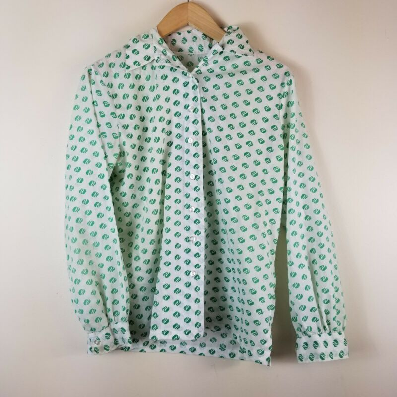 Vtg Girl Scouts Logo Button Front shirt long sleeve Possible Small