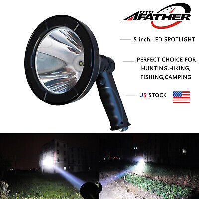 Outdoor CREE LED Rechargeable Hunting Handheld Spot Light  80000LM 800W White (Handheld Led Light)