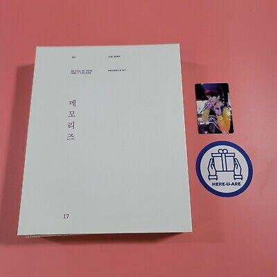 BTS Jungkook Memories of 2017 DVD+PHOTO BOOK SET JK photo card oop rare Exp ship