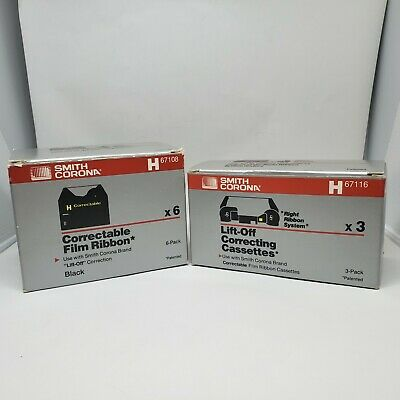 Smith Corona Typewriter Correctable Film Ribbons H67108 X 4 H67116 X 3