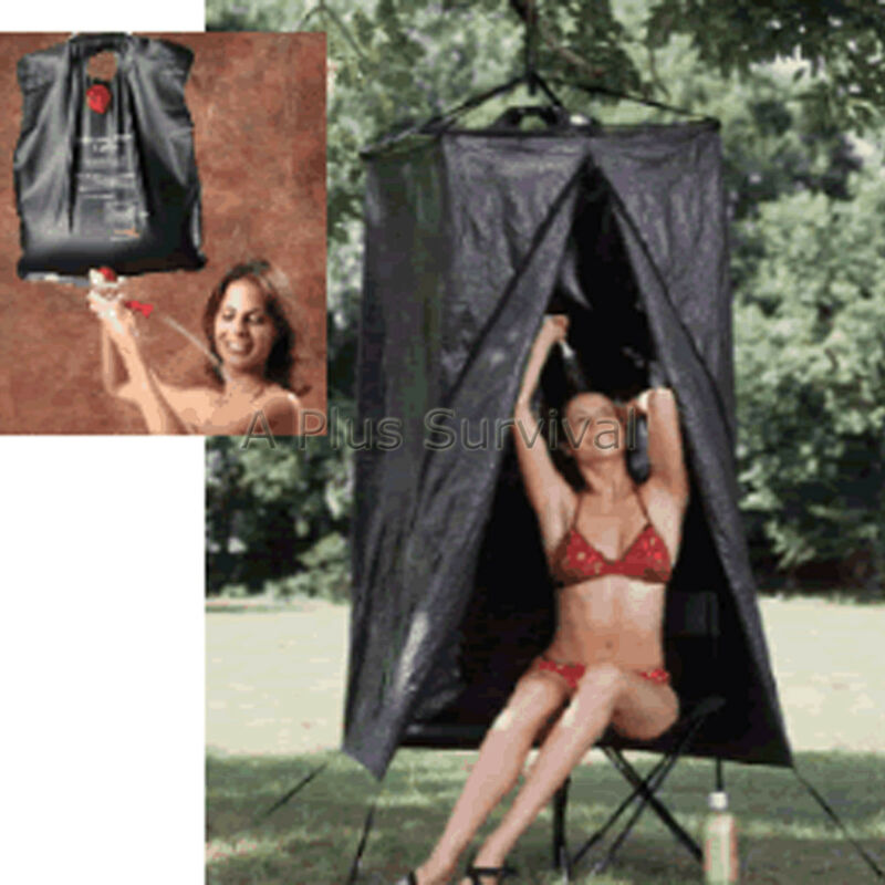 Camping Privacy Shelter & Shower Combo Tent