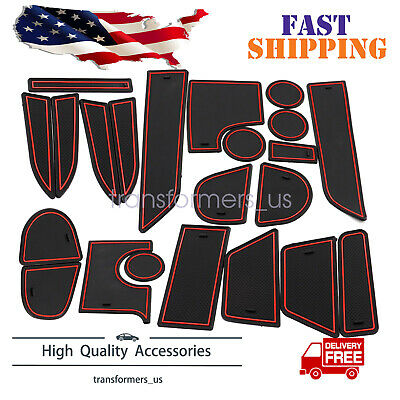 Fit For Dodge Charger 11-20 Cup Holder Liner Insert Accessories 22-pc Red Trim