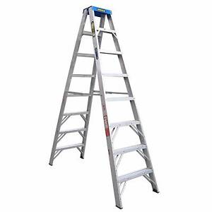 Gorilla Industrial aluminium 2.4m double sided step ladder Pullenvale Brisbane North West Preview