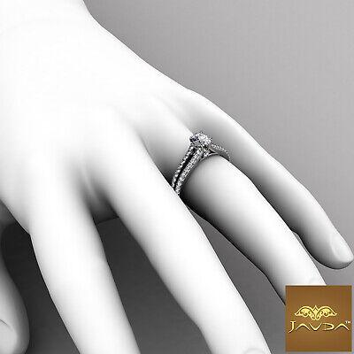 Cushion Cut Diamond Engagement GIA H VS1 Split Shank Ring 18k White Gold 1.15Ct 4