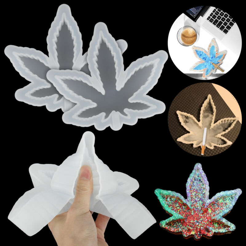 Silicone Ashtray Mold Maple Leaf Resin DIY Making Mould Casting Epoxy Craft Tool